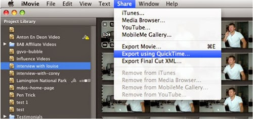 How to Export/Convert iMovie Videos to MP4 on Mac