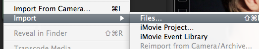 Import the result files to Final Cut Pro X