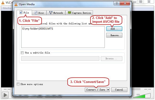 VLC and MTS files - How to Play and Convert MTS files with VLC