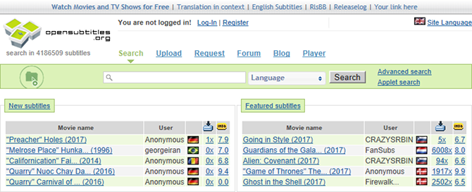 Top 10 Sites to Download Subtitles for Movies and TV Series