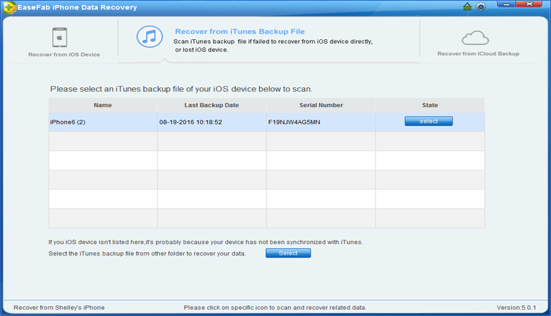 EaseFab iPhone Data Recovery for Windows