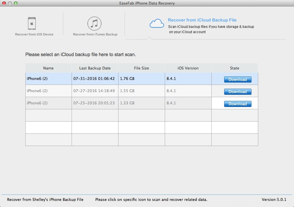 icloud account recovery status
