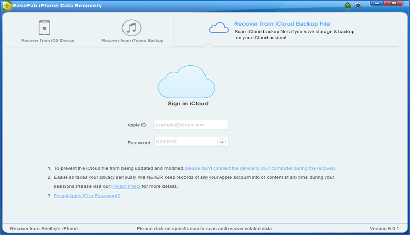 EaseFab iPhone Data Recoveryr for Windows
