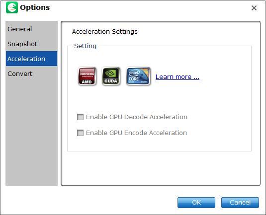 acceleration option
