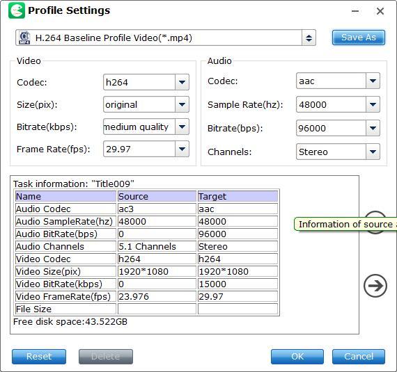 profile settings