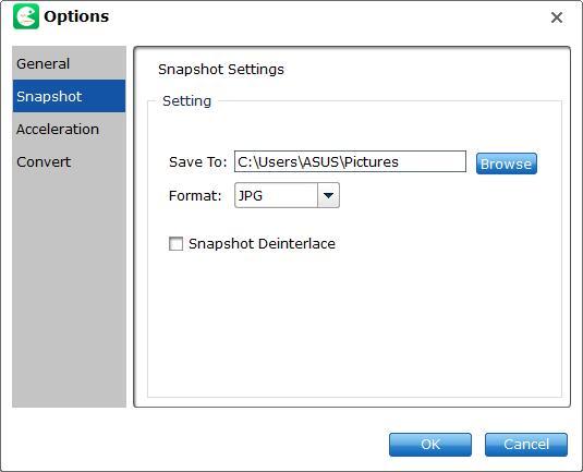 snapshot option