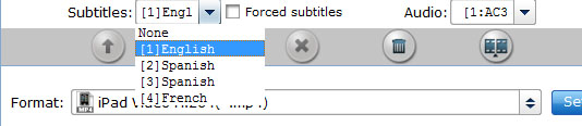 choose subtitle and audio