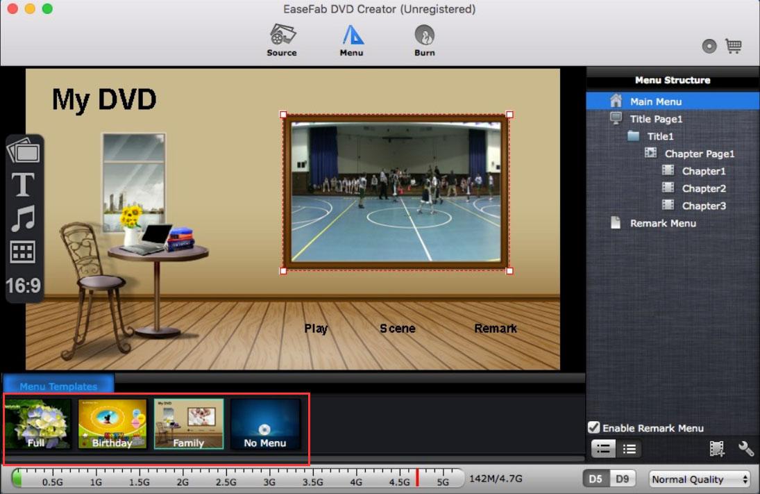 dvd menu templates