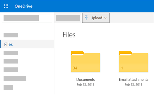 Upload DVD Using the OneDrive website
