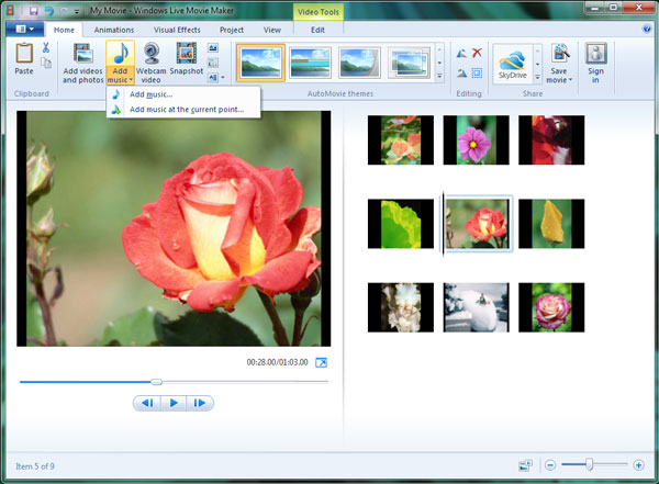 how to crop video in windows movie maker