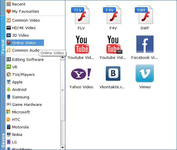 Choose Output Format
